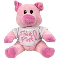 Think Pink Stuffed Animal Piggy