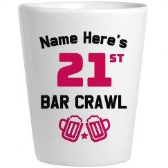 Bar Crawl Shotglass