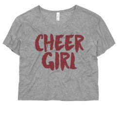 Cheer Girl Vintage Crop