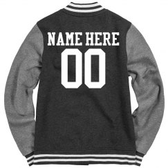 Softball Girl Custom Varsity Jacket With Custom Text