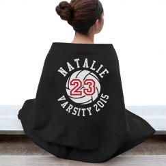 Cozy Volleyball Fan With Custom Name Number