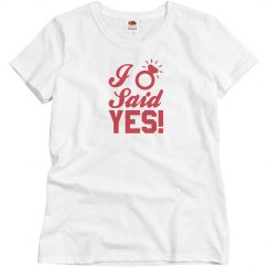 I Said Yes Bride Tank Top