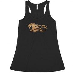 Racer back Tribal horse shirt