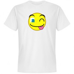 Playful Tongue Wink Emoticon Tee