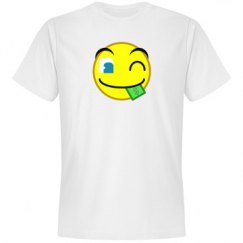 Money In Mouth Wink Emoticon Tee
