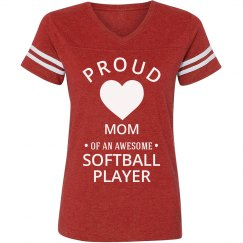 Proud Softball Mom