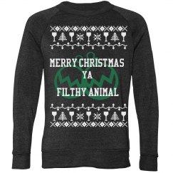 Unisex Merry Christmas Ya Filthy Animal