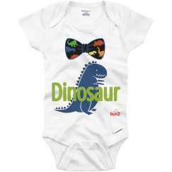 Infant Bowtie Dino Onesie