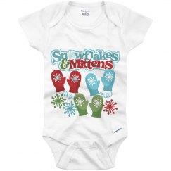 Snowflakes/Mittens Onesie