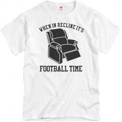 Dad's Funny Football Game Day Reclining Shirt