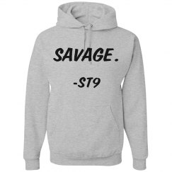 ST9 Grey Savage Hoodie