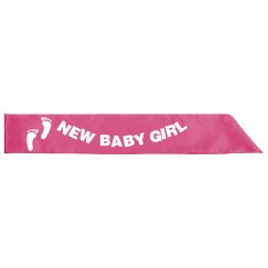 New Baby Girl Sash