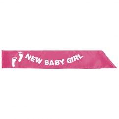 New Baby Girl Sash