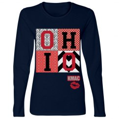 Ladies OHIO football tee