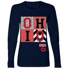 Ladies OHIO football tee