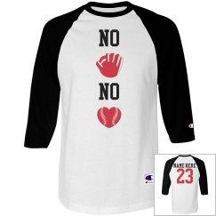 No Glove No Love Baseball Girlfriend Jersey Raglan