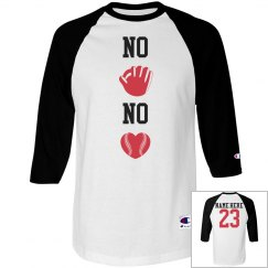 No Glove No Love Baseball Girlfriend Jersey Raglan