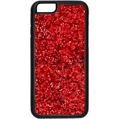 Red Glitter Iphone 6