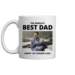 1st Father's Day Custom Photo Gift