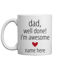 Funny Custom Dad Mug From Kid
