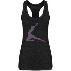 Purple Yoga Lady