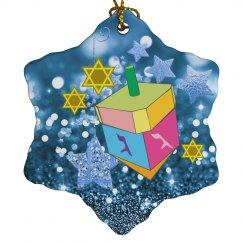 Colorful Dreidel & Jewish Stars