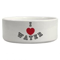 I Heart Water Pet Bowl