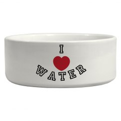 I Heart Water Pet Bowl