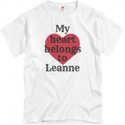 Heart belongs to leanne