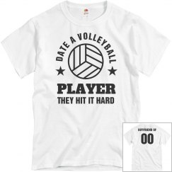 Volleyball Boyfriend Funny Shirt