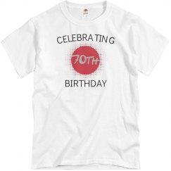 Celebrating 70th birthday