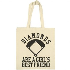 Diamonds Are A Girls Best Friend All Purpose Tote Bag
