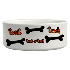 Trick  or Treat Dog Bowl