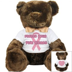 'Fasten Your Pink Ribbon' breast cancer awareness teddy