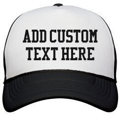 Custom Text Vacation Hat