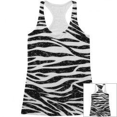 Zebra print tank top.