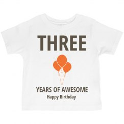 Three years of awesome