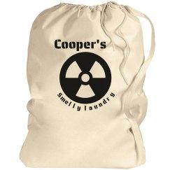 Cooper's laundry bag!