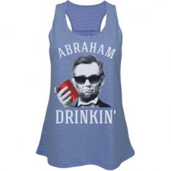 abraham lincoln drinkin' womens fashion tank top