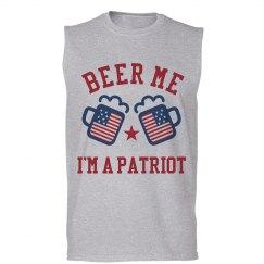 Beer Me I'm A Patriot July 4th