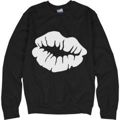 Kiss White Lips