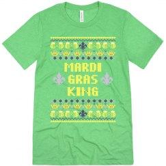 Mardi Gras Ugly Sweater Tee Mens