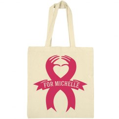 Inexpensive Breast Cancer Charity Bag With Custom Name