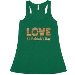 Love St. Patrick's Green Tank