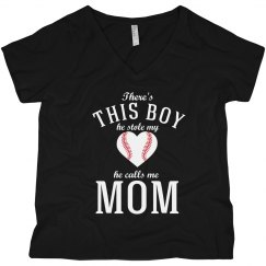 This Boy Love Her Baseball Boy Tee