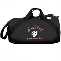 Lady Bug Ballet Bag Custom Name