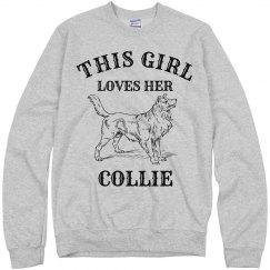 Girl loves her collie