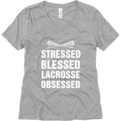 Stressed Blessed Lacrosse Obsessed