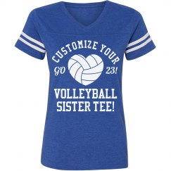 Customized Volleyball Sister Tee