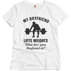 Boyfriend lifts weights